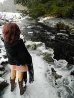 River in winter by Falkenhund