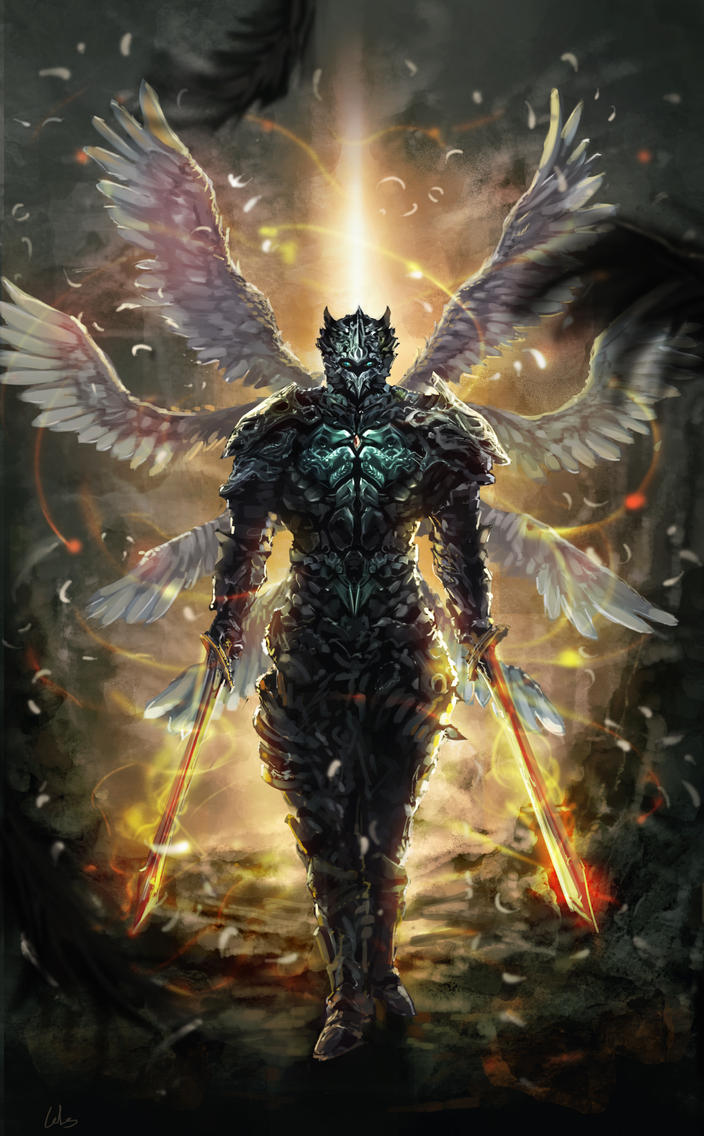 8 Wings warrior by CGlas on DeviantArt