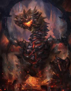 Lava Rock Dragon