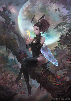 Lizz-the moon priest by CGlas