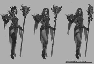 Dark Fantasy: Necromancer Design by CGlas