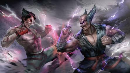Tekken7 SPONSORED- Kazuya VS Heihachi