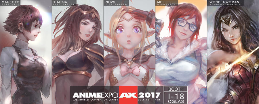 Anime expo 2017 New prints by CGlas