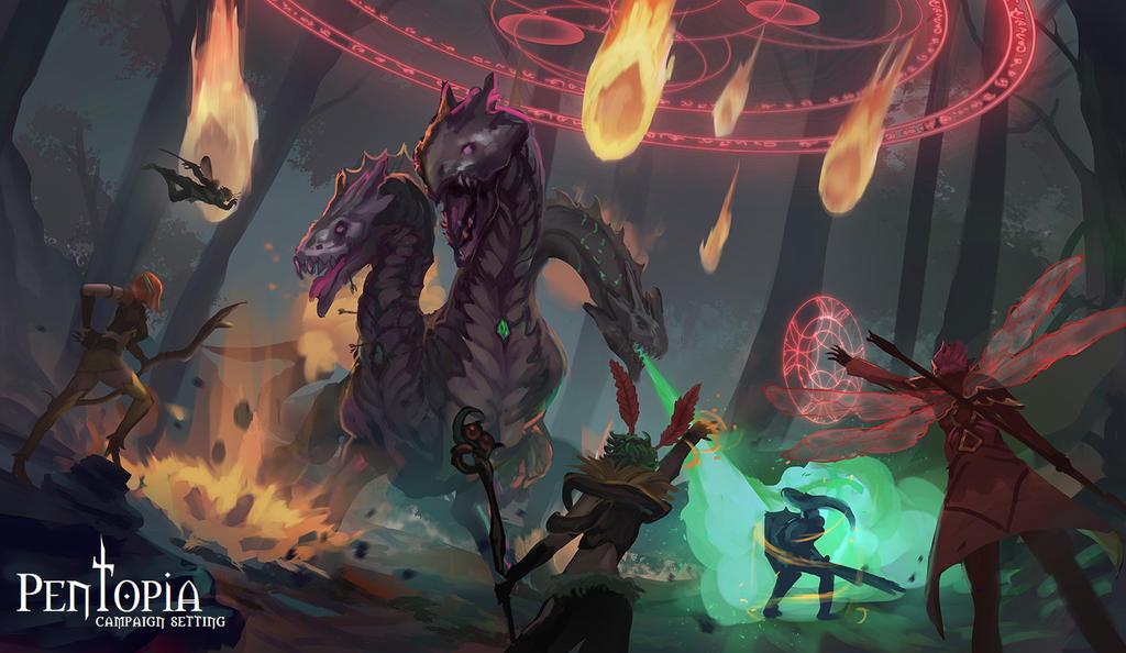 Hydra battle by CGlas