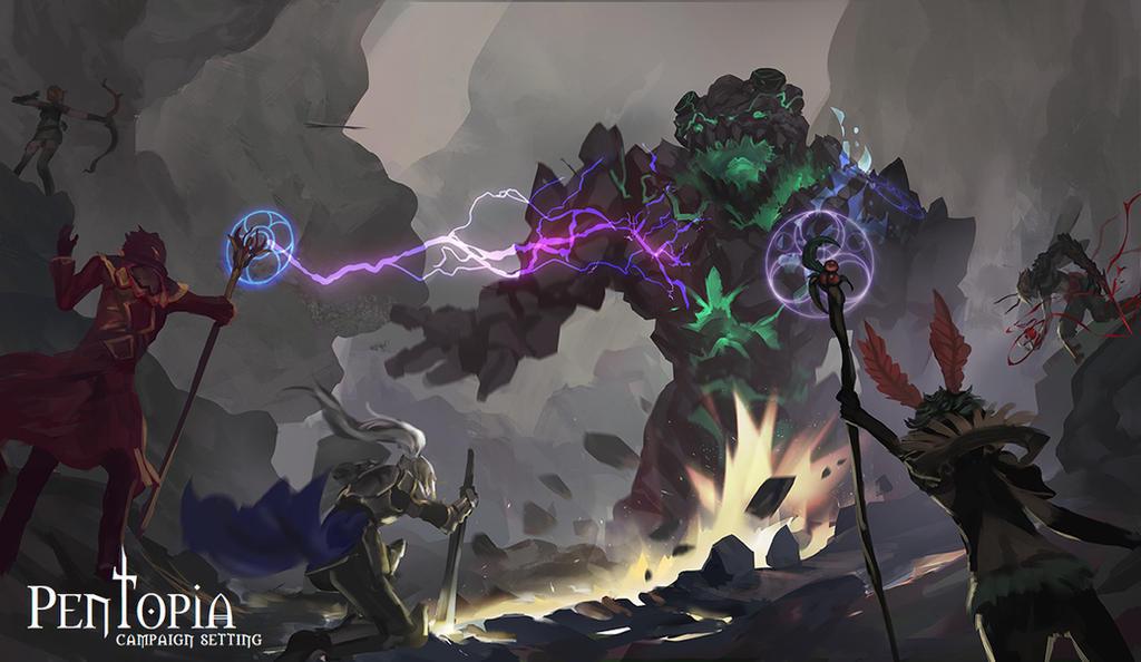 Golem Battle by CGlas