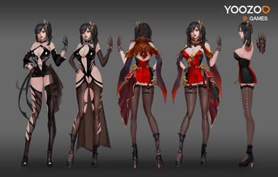 Vampire Female Character Design + Turntable