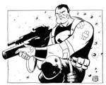 Punisher Con Sketch
