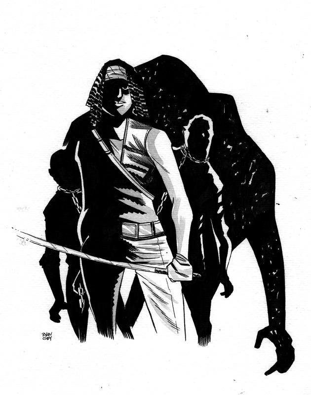 Michonne Ink Wash by ryancody