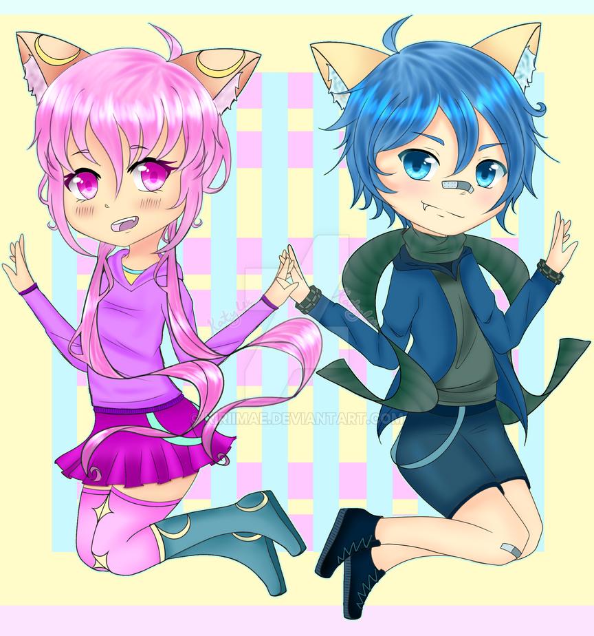 Luna and Blu by KyuRiichi