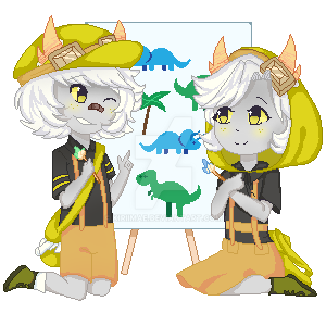 [C] Tsuuru and Tsunyu Pixel Dolls by KyuRiichi