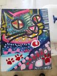 Final Paint Final- Psychedelic Cat