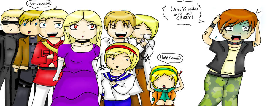 Resident Evil - Crazy Blondes by LuciferianRising