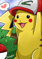 Pikachu - COM for Timmy by LuciferianRising