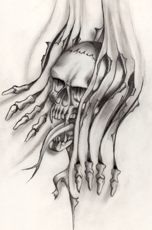 skull tattoovorlage by lukeart1974 on deviantart. Black Bedroom Furniture Sets. Home Design Ideas