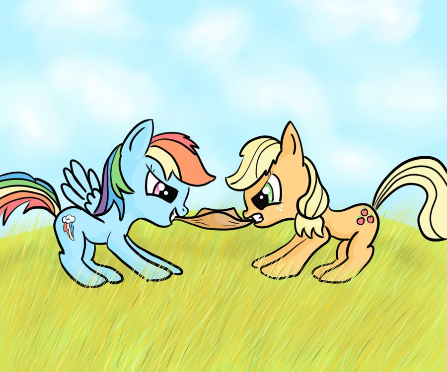 Anthro applejack and rainbow dash - photo#12