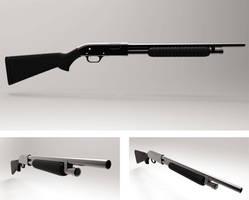Shotgun modeling render by Beelp