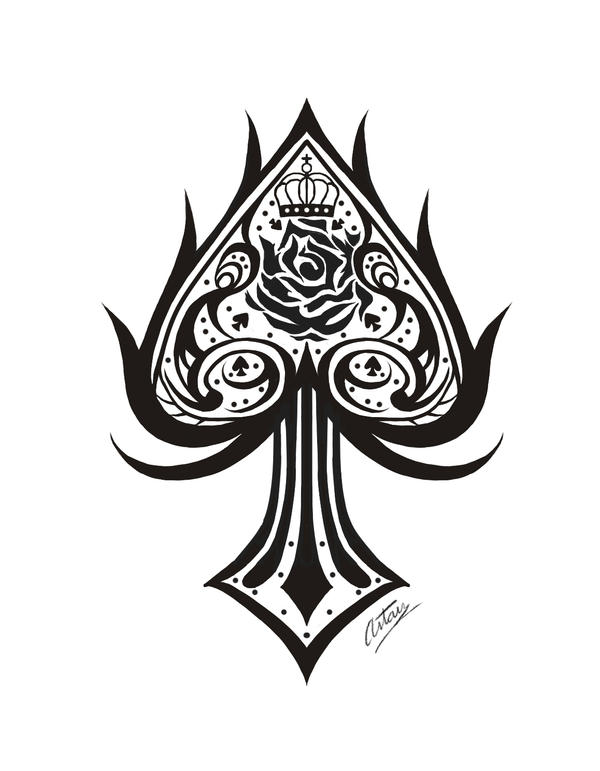 Tattoo design- Royal Spade by yukistukune