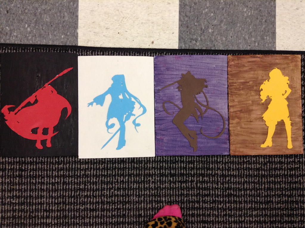 RWBY Foam Cutout Paintings by Tonnie95