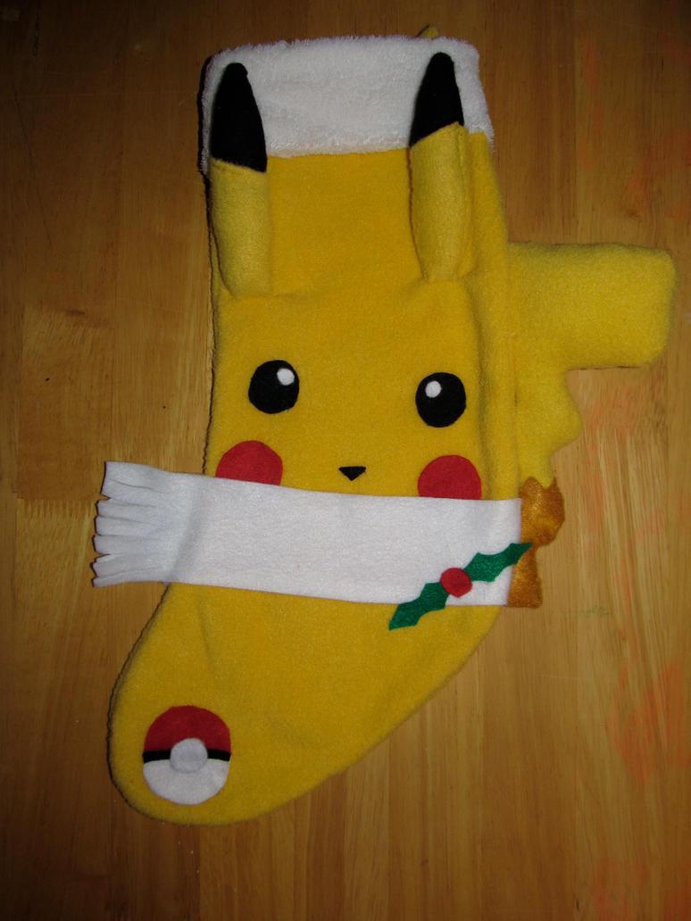 Pikachu Xmas Stocking by AztecTemplar