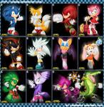 Sonic Beyond Character Renders