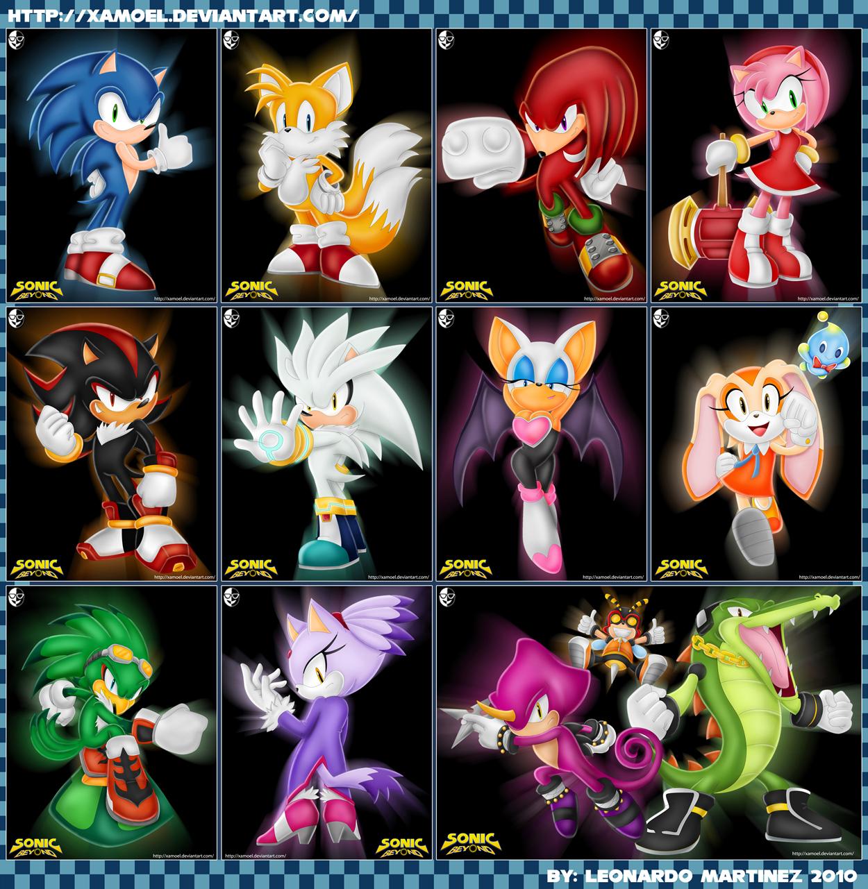 Sonic Beyond Character Renders By Xamoel On Deviantart