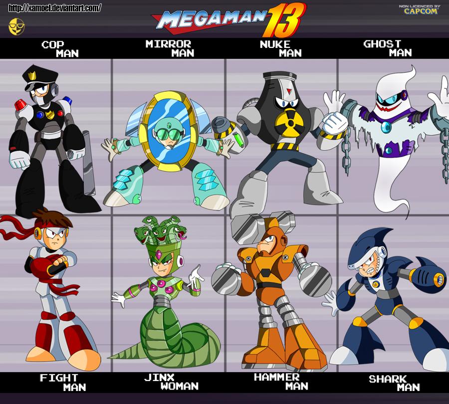 Megaman 13 Robot Masters By Xamoel On Deviantart