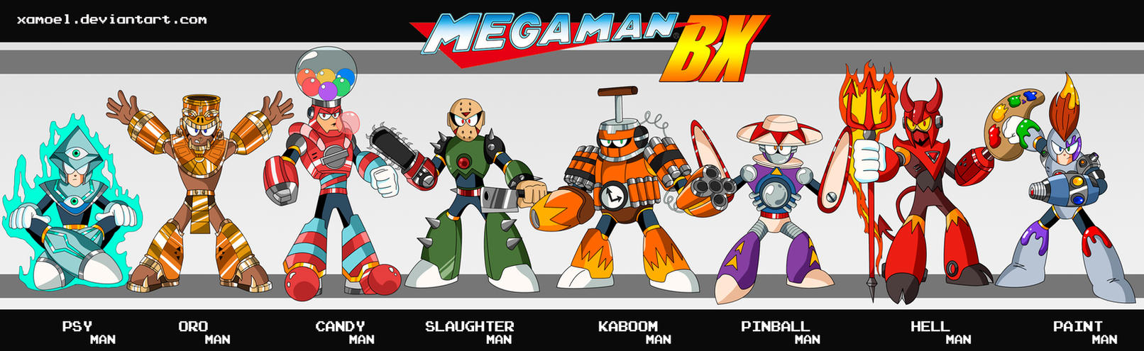 MEGAMAN BX ROBOT MASTERS by XAMOEL