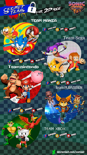 SONIC HEROES AND FOES _ SECRET CHARACTERS