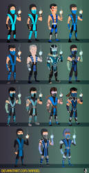 THE MANY FACES OF SUB ZERO.