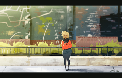 City Sidewalk by Splendoodle
