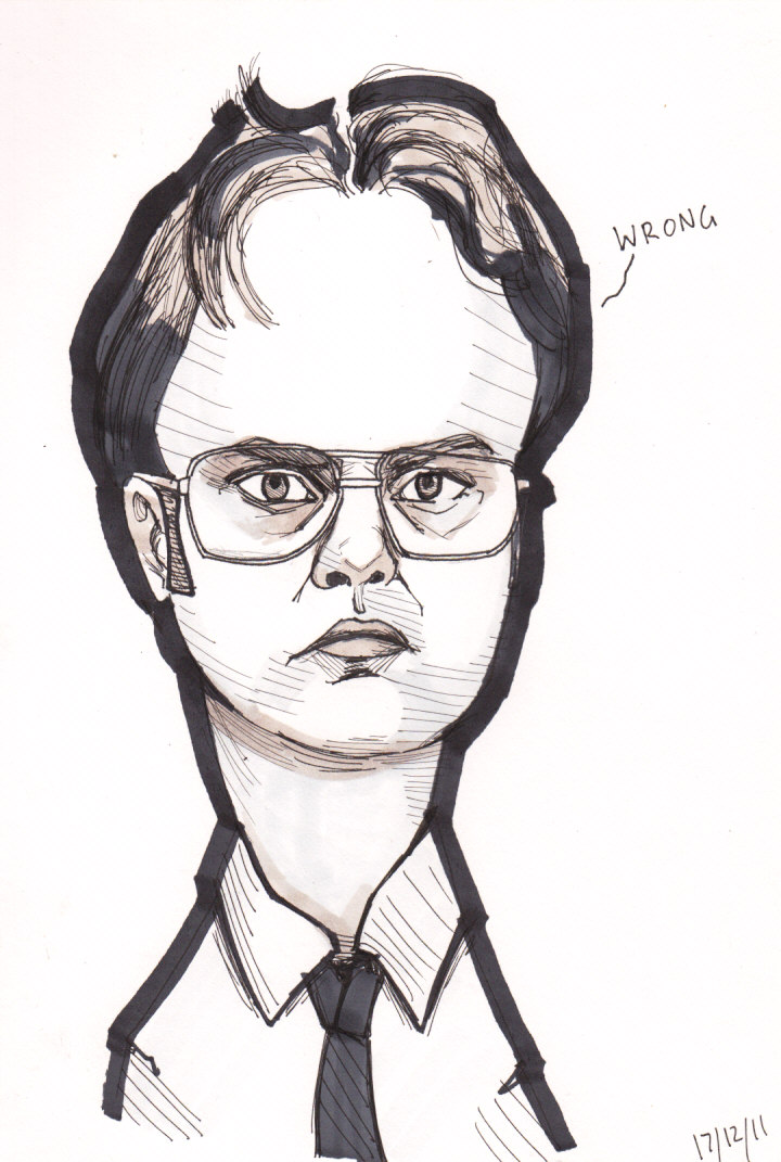 Dwight Schrute caricature by j0epep