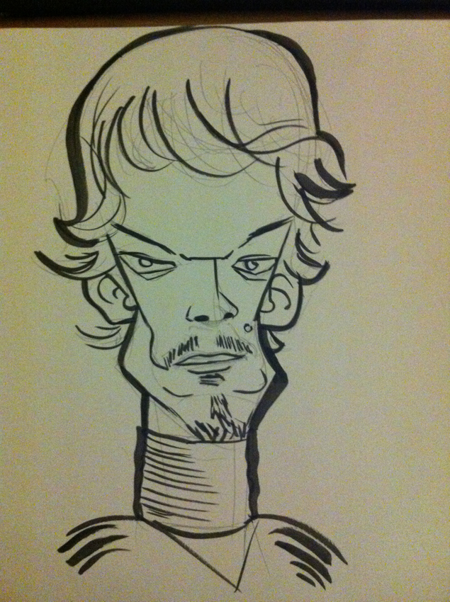 Theon Greyjoy caricature by j0epep