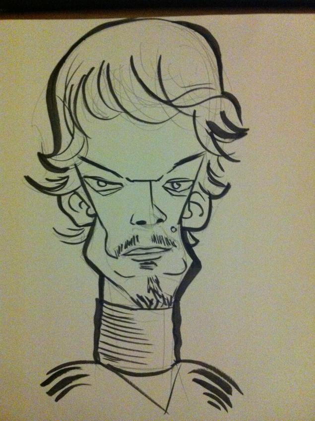 Theon Greyjoy caricature by j0epep