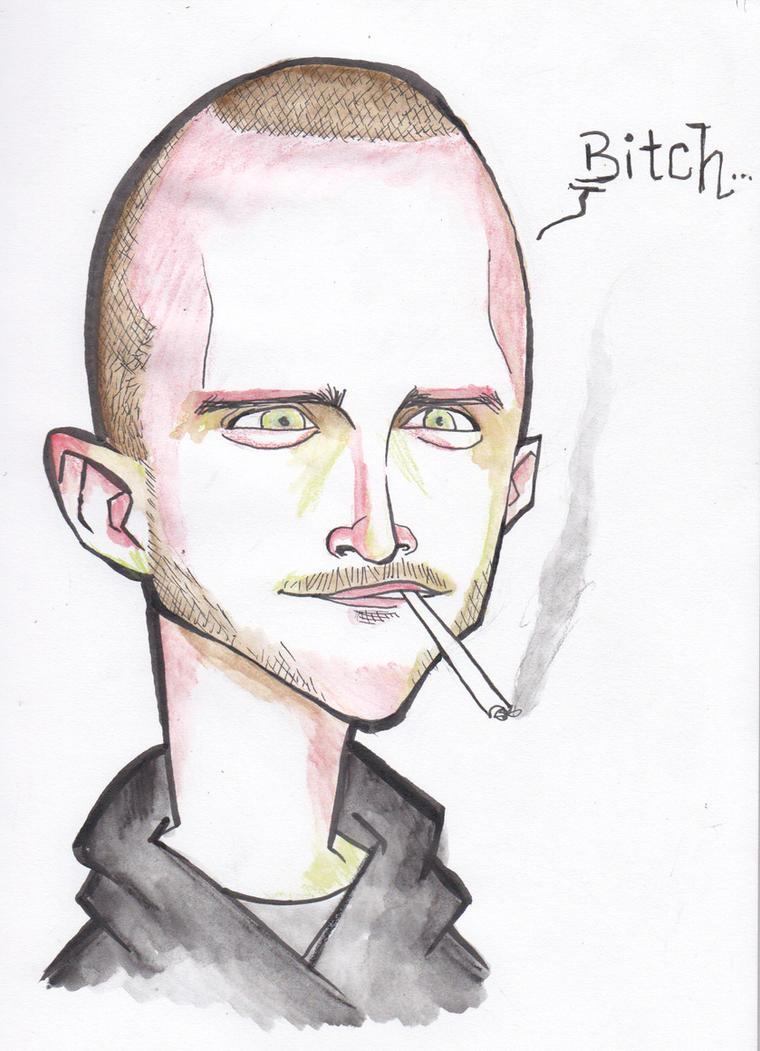 Jesse Pinkman caricature by j0epep