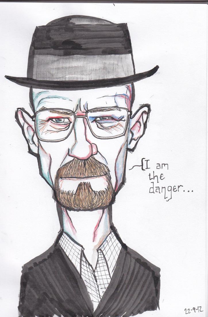 Walter White aka Heisenberg Caricature by j0epep