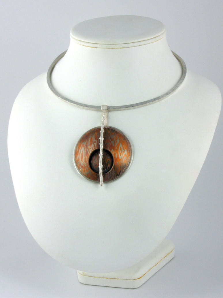 Modern mokume gane necklace by amazon butterfly on deviantart modern mokume gane necklace by amazon butterfly aloadofball Gallery