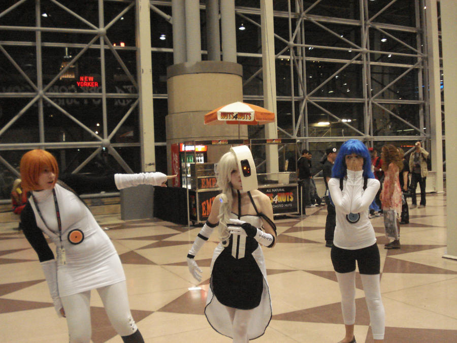 Atlas, Peabody, and GLaDOS by britthebadger
