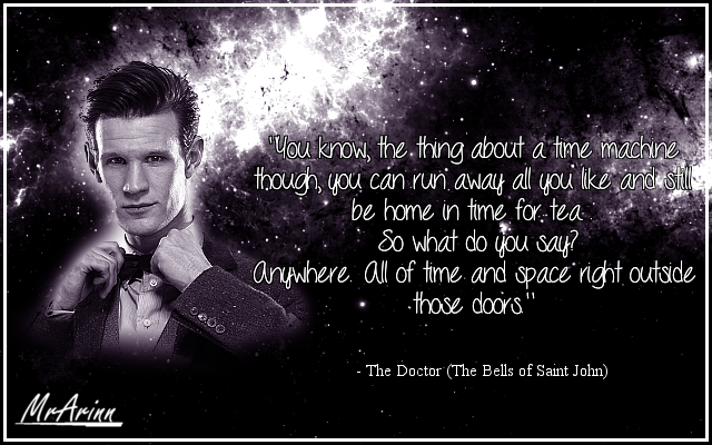 Eleventh Doctor Quote - Space And Time -Doctor Who by MrArinn