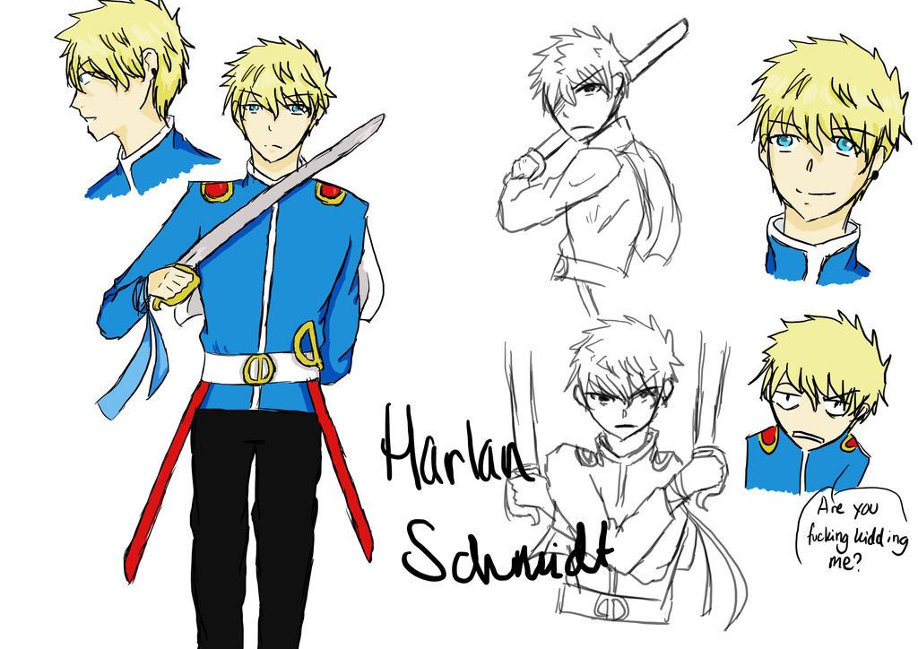 Character Sheet: Harlan Schmidt by suichio