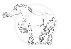 Fire horse (For my best friend :) by Klau--Lion-Heart