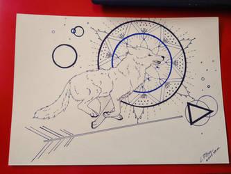 Running wolf by Klau--Lion-Heart