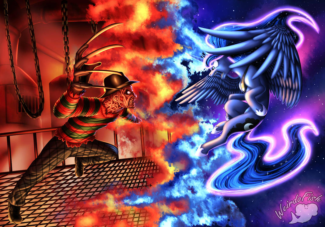 Freddy Vs Luna by WeirdoFish
