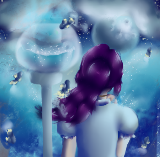 A cloudy view by SarahPinkCat123