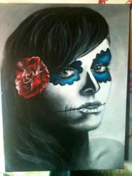 Dia De Los Muertos art sugar skull by HisLilMonsta
