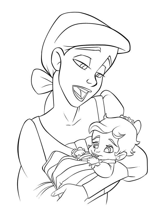 coloring pages ariel | Progress: Ariel + Baby Melody by riaherod on DeviantArt