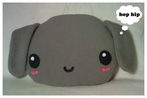 Large Plush Bunny Cushion by riaherod