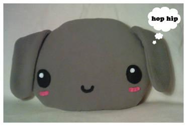 Large Plush Bunny Cushion