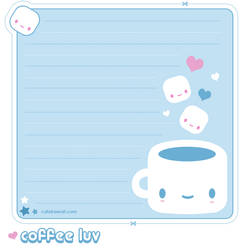 Coffee Luv Memo Sheet