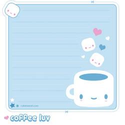 Coffee Luv Memo Sheet by riaherod