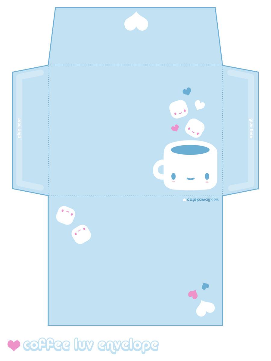 cute printable envelope template